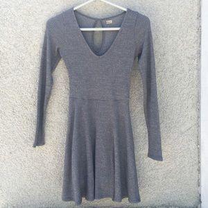 Gray Skater Dress